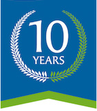 10th anniversary shredding logo