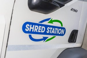Mobile Shredding vehicle logo