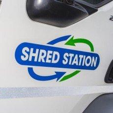 Shredding vehicle door