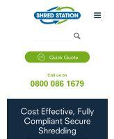 Website screenshot of new design