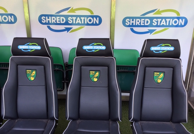 Norwich City FC dugout