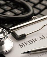 Medical record on desk image