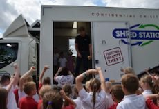 Mobile Shredding Demonstration at School