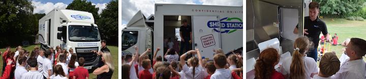 Mobile Shredding Demonstration at School