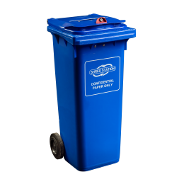 140L Shredding Bin in Blue to keep confidential paperwork secure