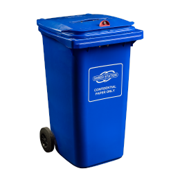 240L Confidential Waste bin to keep confidential materials secure