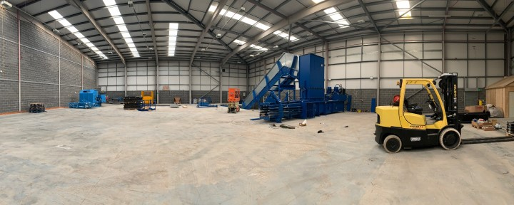 Progress picture inside of the Manchester shredding depot