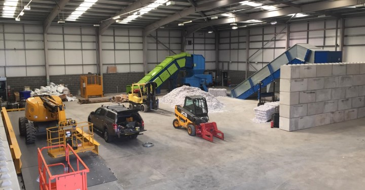 Image of complete shredding depot in Manchester
