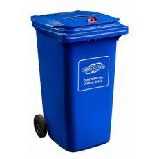 Confidential waste bin - 240/360 litre red dome lock