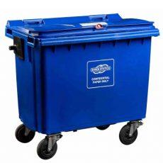 Confidential waste bin - 660 litre red dome lock