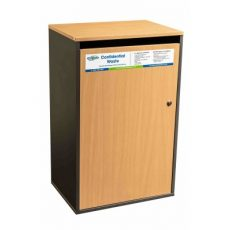 Confidential waste bin - beech large sack cabinet