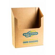 Confidential waste bin - cardboard desk tray