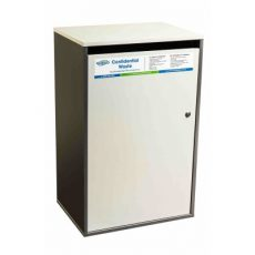 Confidential waste bin - grey large sack cabinet