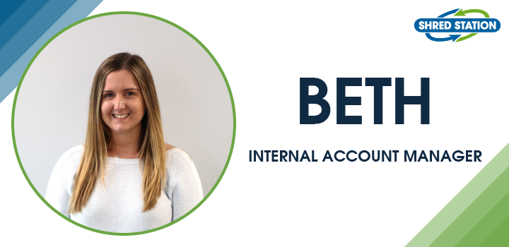 Image of Beth Willgress, Internal Account Manager at Shred Station Limited