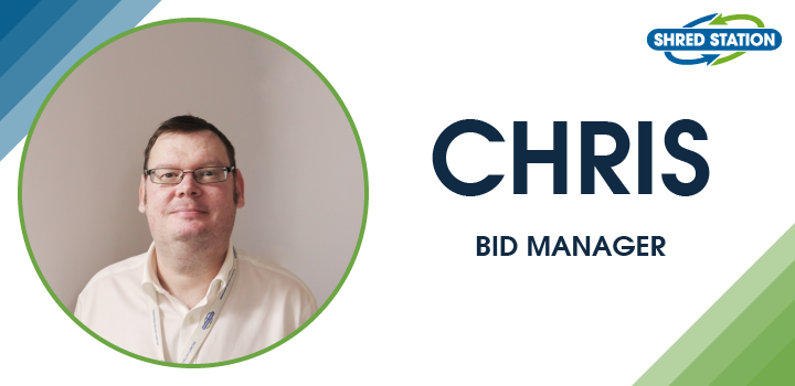 Image of Chris Pearson, bid manager at Shred Station Ltd