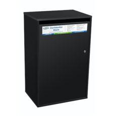 Confidential waste bin - black large sack cabinet