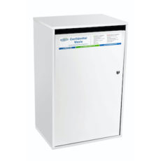 Confidential waste bin - white large sack cabinet