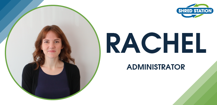 Rachel Lofthouse, accounts administrator at Shred Station Ltd - July 2020 Employee of the Month