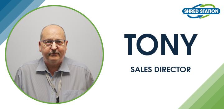 Image of Tony Falkner, Sales Director at Shred Station Ltd