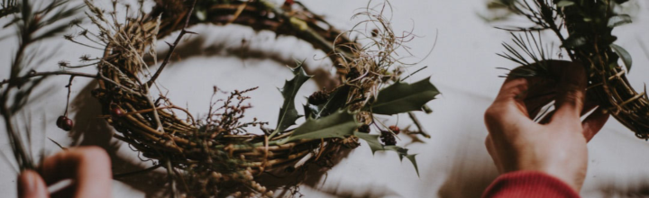 Image of handmade Christmas wreath