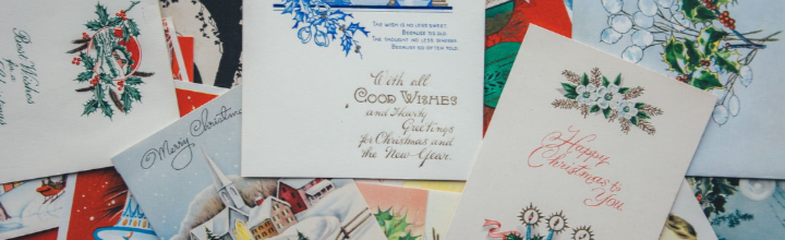 Image of old christmas cards
