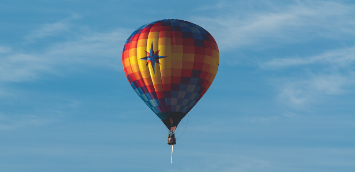 The average person in the emits enough carbon dioxide to fill a whole hot air balloon every 6 months,