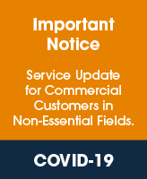 Service update for commercial customers in non-essential fields