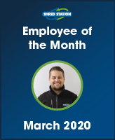 Image of Martin Emms, Shred Station's March 2020 Employee of the Month