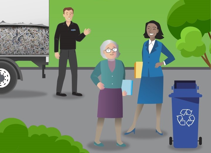 Shred Station - Corporate Social Responsibility Home Page Image