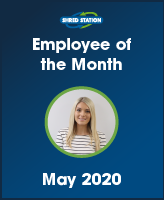 Image of Kelsey Evans, Shred Station's Employee of the Month May 2020.