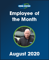 Image of Darren Richardson, Shred Station's Employee of the Month August 2020