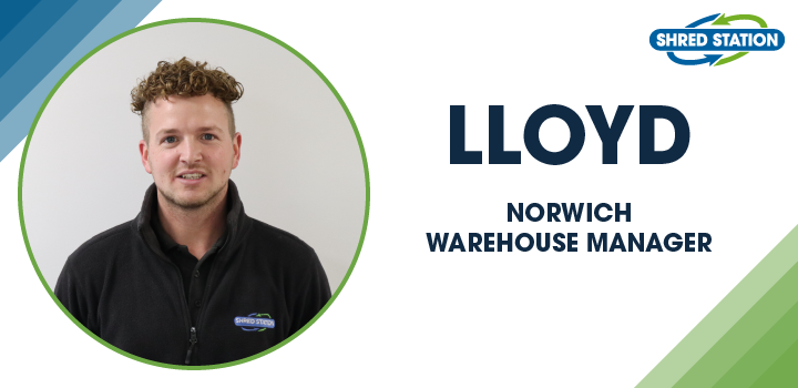 Image of Lloyd Quinton, Norwich Warehouse Manager at Shred Station Limited