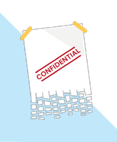 image of confidential information being shredded, copyright Shred Station Ltd
