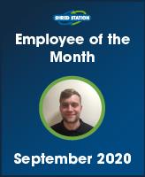 Image of Danny Johnson, Shred Station's September 2020 Employee of the Month