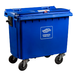 660L Shredding Bin in Blue to keep confidential waste secure