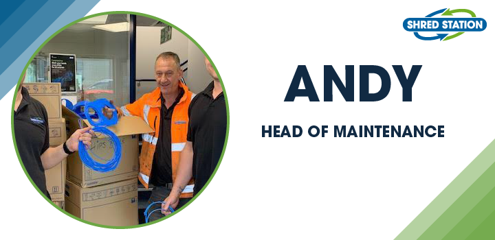 Image of Andy Macgregor, Head of Maintenance at Shred Station Ltd