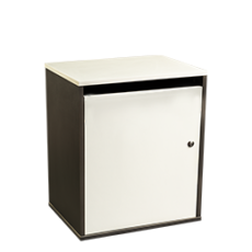 Junior sack cabinet for storing confidential materials - grey - Shred Station