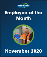 Image of Andy Macgregor, Shred Station's Head of Maintenance and Noember 2020 Employee of the Month.
