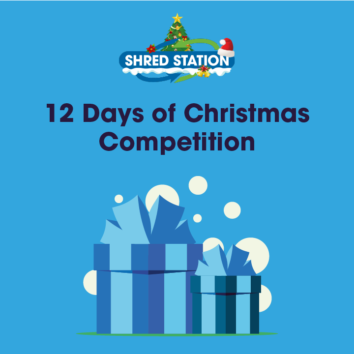 Image of Presents representing Shred Station's 12 Days of Christmas competition.