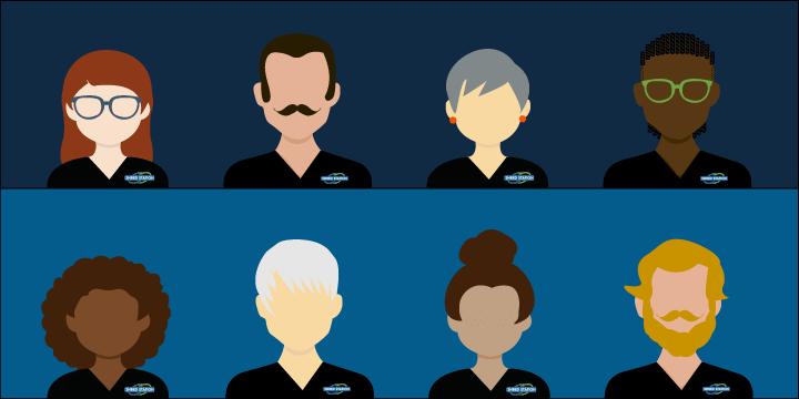 Image showing illustration of Shred Station staff