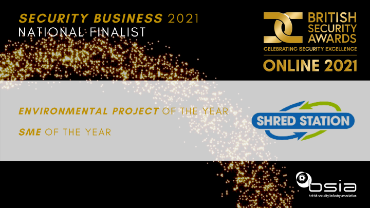 Shred Station finalists at the British Security Awards