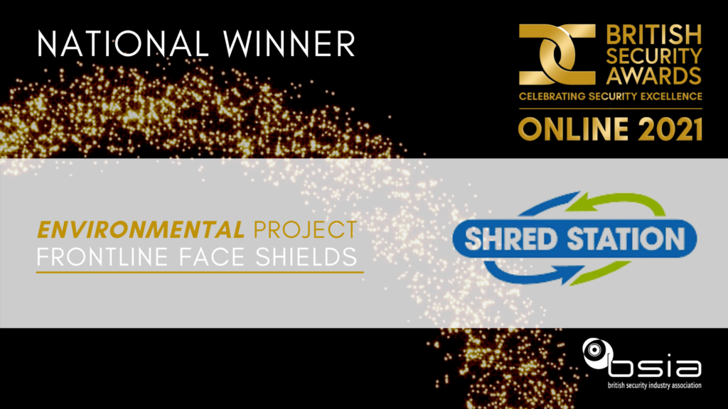 Shred Station wins Environmental Project of the Year award