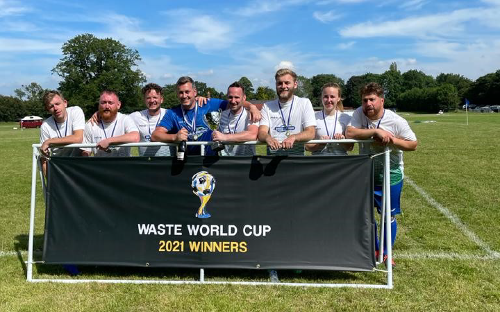 Shred Station's Winning Team at the 2021 Waste World Cup