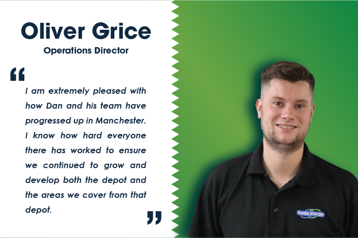 Image of Oliver Grice, Shred Station's Operations Director