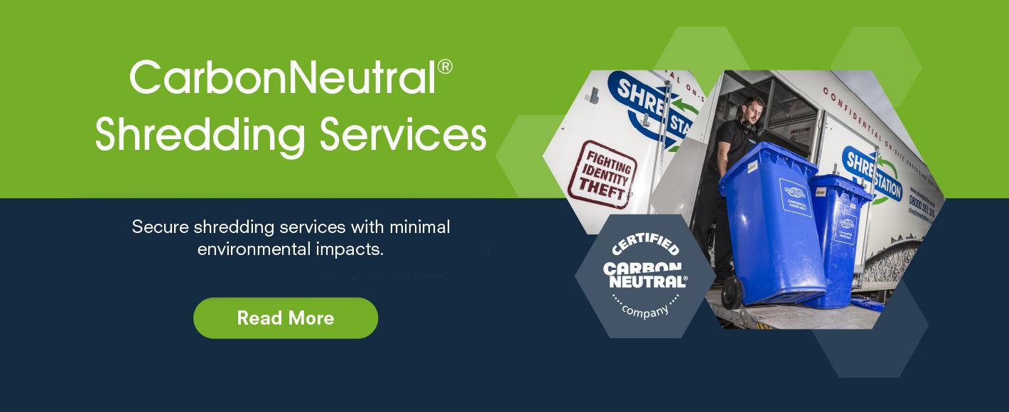 Carbon Neutral Shredding - Slider